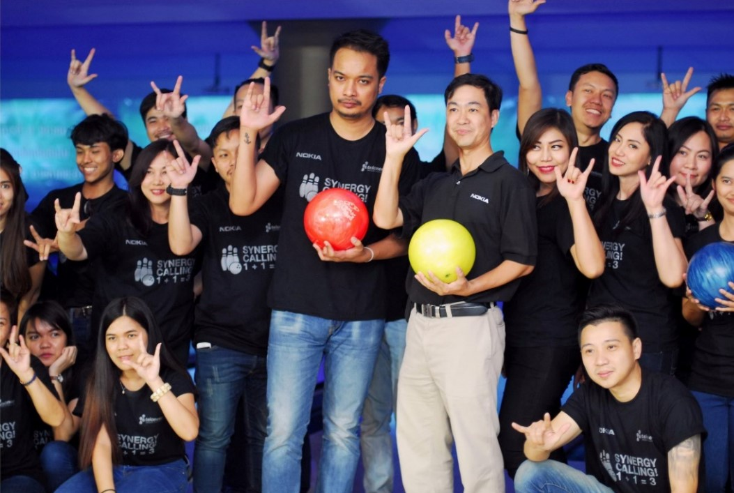 Teloneer VS Nokia (Bowling friendly exhibition)